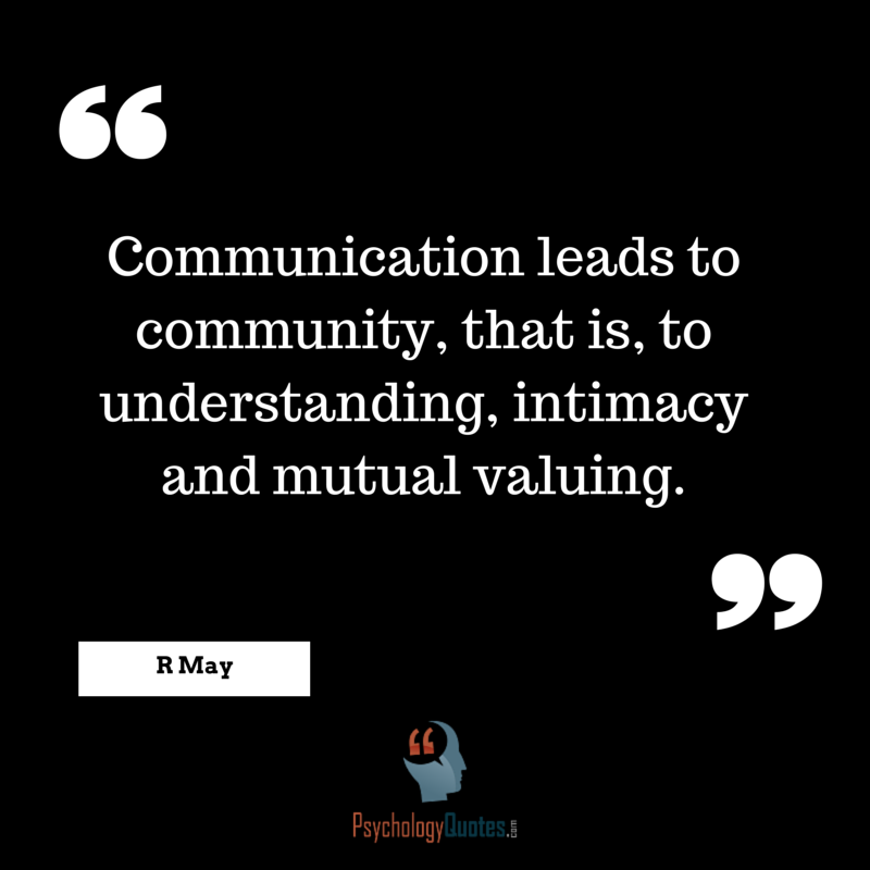Communication Leads To Community That Psychology Quotes Magnificent Quotes About Community