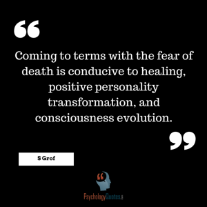 Coming to terms with the fear of death is conducive to healing, positive personality transformation, and consciousness evolution. #death #quotes #psychology
