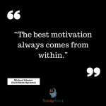 """The best motivation always comes from within."" - Michael Johnson (Gold Medal Sprinter)"