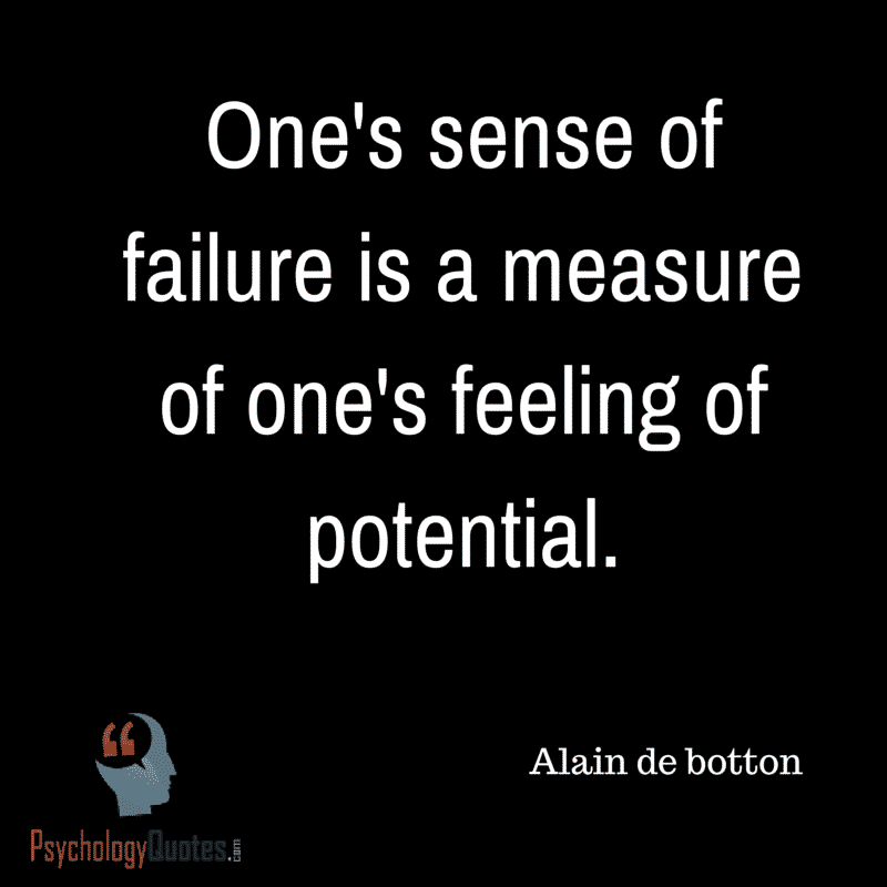 One's sense of failure a measure of one's feeling of potential